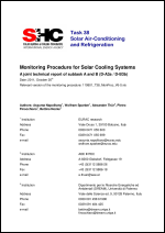 A3a-B3b: Monitoring Procedure for Solar Cooling Systems