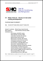 C1: State of the Art - Survey on New Solar Cooling Developments