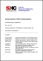 C3: Exergy Analysis of Solar Cooling Systems